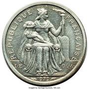 1 franc (Piéfort argent IEOM) – avers