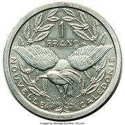 1 franc (Piéfort argent IEOM) – revers