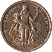 2 francs (Essai cupronickel) – avers
