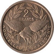 2 francs (Essai cupronickel) – revers