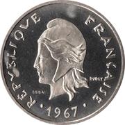 20 francs (Essai) – avers
