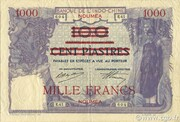 1000 Francs on 100 Piastres – avers