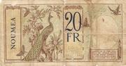 20 Francs Nouméa – revers