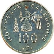 100 francs (Piéfort argent IEOM) – revers