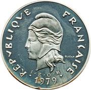 50 francs (Piéfort argent IEOM) – avers