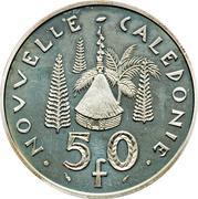 50 francs (Piéfort argent IEOM) – revers