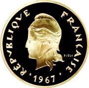 50 francs (Piéfort argent) – avers