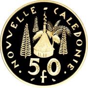 50 francs (Piéfort argent) – revers