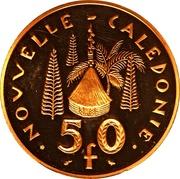 50 francs (Piéfort or) – revers
