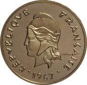 50 francs (Piéfort nickel) – avers