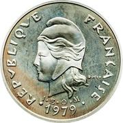 20 francs (Piéfort argent IEOM) – avers