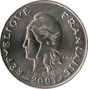 20 francs (IEOM) – avers