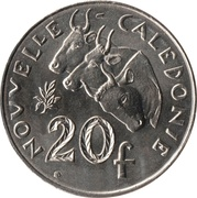 20 francs (IEOM) – revers