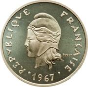 20 francs (Piéfort argent) – avers