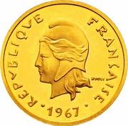 20 francs (Piéfort or) – avers