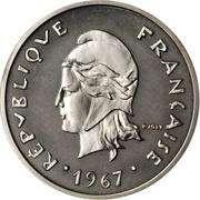 20 francs (Piéfort nickel) – avers