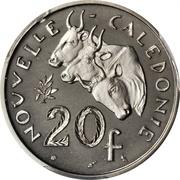 20 francs (Piéfort nickel) – revers