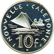 10 Francs (Piéfort argent IEOM) – revers