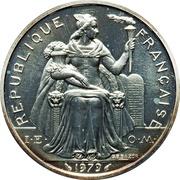 5 francs (Piéfort argent IEOM) -  avers