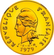 50 francs (Piéfort or IEOM) – avers