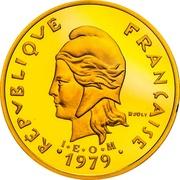 20 francs (Piéfort or IEOM) – avers
