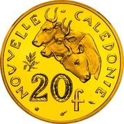 20 francs (Piéfort or IEOM) – revers