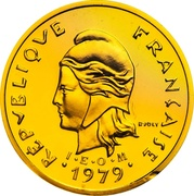 10 francs (Piéfort or) – avers