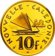 10 francs (Piéfort or) – revers