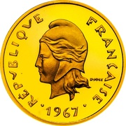 10 francs (Piéfort or) -  avers