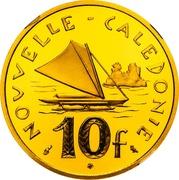 10 francs (Piéfort or) -  revers