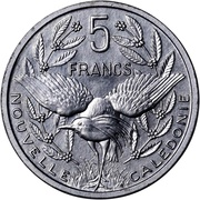 5 francs (Piéfort avec essai) – revers