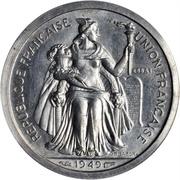 1 franc (Piéfort avec essai) – avers