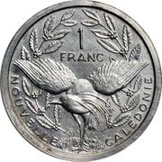 1 franc (Piéfort avec essai) – revers