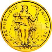 2 francs (Piéfort or) – avers
