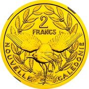 2 francs (Piéfort or) – revers