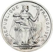 2 francs (Piéfort aluminium) – avers
