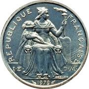 2 francs (Piéfort argent IEOM) -  avers