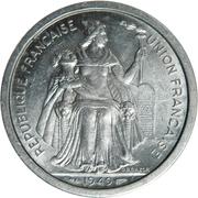 2 francs (Union française) – avers