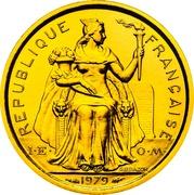 1 Franc (Piedfort or) – avers
