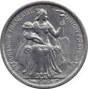 50 centimes (Union Française) – avers