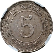 5 Centimes (Le Nickel) – avers