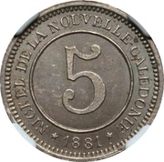 5 Centimes (Le Nickel) – revers