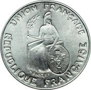 50 centimes (Essai aluminium, avec listel) – avers