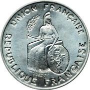 2 francs (Essai aluminium, avec listel) – avers