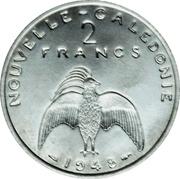 2 francs (Essai aluminium, avec listel) – revers