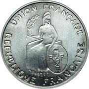1 franc (Essai aluminium, avec listel) – avers