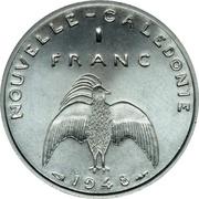 1 franc (Essai aluminium, avec listel) – revers