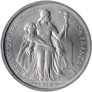 5 Francs (Union française) – avers