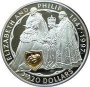 20 Dollars - Elizabeth II (Golden Wedding Anniversary) – revers