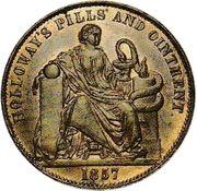 ½ Penny (Holloway, Professor - London England) – revers